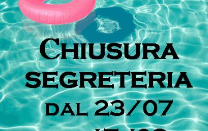 CHIUSURA SEGRETERIA