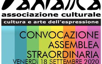 Assemblea Straordinaria presso la sede dell'Associazione il 18 settembre 2020 ore 15.30